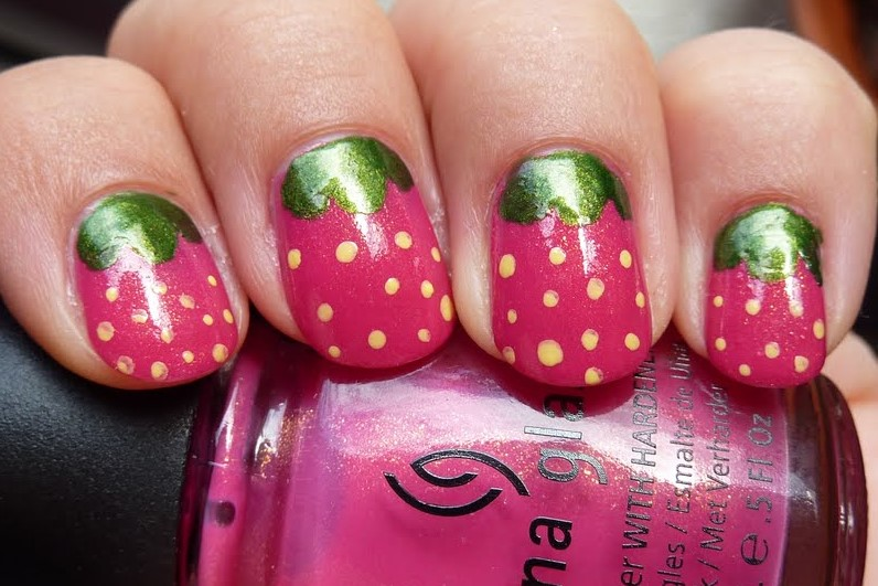 Strawberry Fields Nail Designs